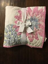 New Pottery Barn Kids Pink Floral Emma Nursery Bedding Crib Toddler Quilt