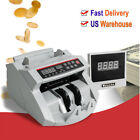 USA Money Bill Currency Counter Counting Machine Counterfeit Detector UV MG Cash
