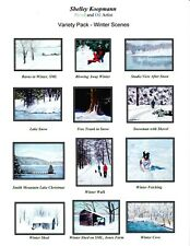 """""""Winter 12"""" - box of 12 Assorted Notecards"""