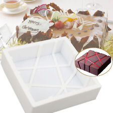 Silicone Square Magma Cake Mold Pastry Dessert Mousse Chocolate Baking Pan Tool