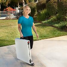 Folding Table Portable Party Adjustable Height RV Garden Outdoor BBQ Picnic