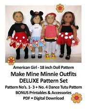 "18"" American Girl Doll Clothes Pattern_Make Mine MINNIE COLLECTION + BONUS_CD"