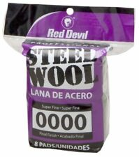 Red Devil 0320 Steel Wool, 0000 Super Fine, 8 Pads