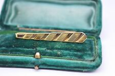 Vintage yellow metal tie clip in the art deco style #T504