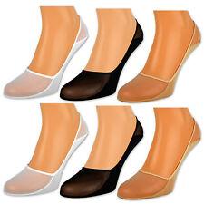 6 oder 12 Paar Damen Füßlinge Ballerina Socken Footies Baumwolle Schwarz Weiß