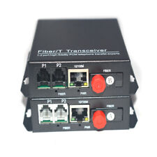 Premium Telephone Extenders -2CH PCM Tel over Fiber Optic with 100M Ethernet