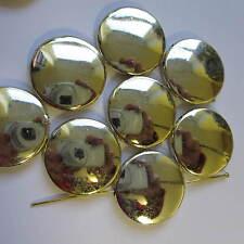 30pcs Color Dorado Grande Grande Grueso Disco cuentas Shining 25mm Compre 2 obtenga 1 gratis
