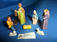 Plastic Miniature Nativity Set - 7 pcs