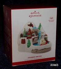 2013 Hallmark STEAMBOAT JUNCTION Train Magic Ornament with Light, Sound, Motion