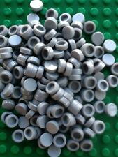 Lego Lot Of 100 Tiles 1x1 Light Gray Round Circle Smooth Finishing Tiles New