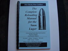 German 9mm Luger or Parabellum  Pistol  Reloading Manual Load Books USA 53 Pages
