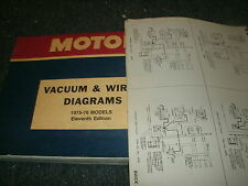 1975 1976 chevrolet impala caprice factory wiring diagrams schematics set
