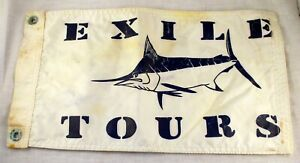 Vintage Exile Charters Blue Marlin Boat Pennant Nylon Flag Yacht Fishing Catch