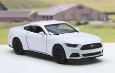 White 2015 FORD MUSTANG GT Diecast Boys Dad Toy Model Car Birthday Gift Present