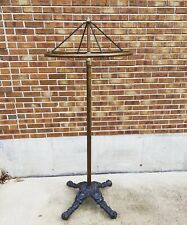 Incredible Patina Antique Cast Iron Clothing Rack Industrial Rounder 1890s
