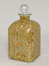 Gold Mosaic Glass Bottle Vase Wine Dressing Decoration Centerpiece