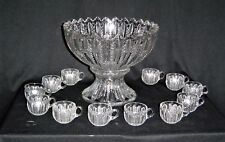 Duncan Miller #42 [Mardis Gras] Punch Bowl with 12 Punch Cups