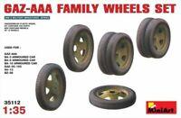 MiniArt 35112 - Soviet GAZ-AAA Family Wheels Set (used with Mini Aert kits) - 1: