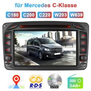 Autoradio DVD GPS NAVI für Benz C/CLK W203 C209 W639 VIANO VITO DAB+ Bluetooth