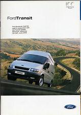 Ford Transit 2003 UK Market Brochure Van Chassis Cab Double Cab Minibus Tourneo