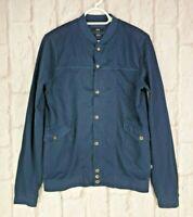 Hugo Boss Black Label Navy Blue Zipped Varsity Sweater Jumper Jacket Slim Fit S