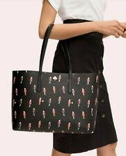🌸  NWT Kate Spade Molly Flock Party Large Tote Rio Parrots Bag Black $228