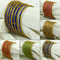 Silk Thread Wrapped Bangle Set Indian Women Designer Fashion Bracelets Jewelry