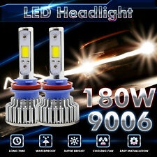 Cree LED 180W 8000LM 6000K 6K White All-In-One Kit Headlight 9006 HB4 High Power