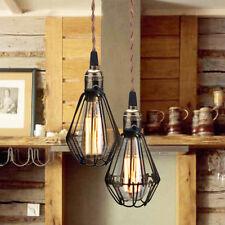 NEU klassische Vintage Retro Hängeleuchte Lampe Licht E27 Sockel Loft Käfig Cage