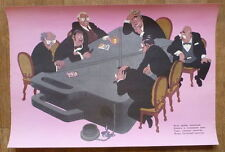 RUSSIAN POSTER COLD WAR TABLE CIGARETTE COSTUME MONOPOLY MINISTER POEM AGITATION