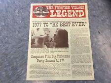 Frontier Village Amusement Park San Jose Legend newsletter Spring 1977