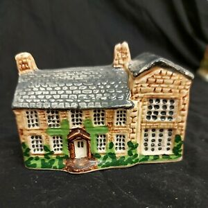 The Bronte Parsonage Haworth Yorkshire Handcrafted pottery CC England. Glazed...