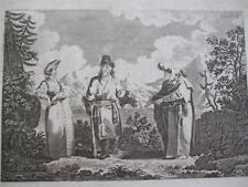 RUSSIAN PEASANTRY WIFE FORTUNE TELLER COPPER ENGRAVING COOKS GEOGRAPHY 1800