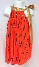 Weissman Designs For Dance Costume Child Medium Modern Jazz Orange Gold