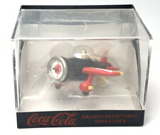 Vintage Coca Cola Brand Collectable Mini Clock (Airplane) - New