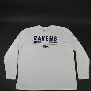Baltimore Ravens Nike Dri-Fit Long Sleeve Shirt Men's White New without Tags