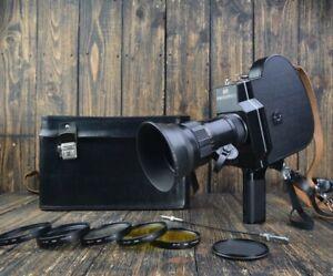 EXL Krasnogorsk 3 16mm Movie Camera Meteor Lens *working*