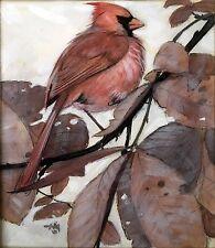 """Red Cardinal"" watercolor by Herbert Meyer"