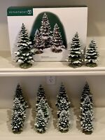 Dept 56, Village, Lot of 5 Sets of Village Pequot Pines (9.5, 8, 6.5 tall) 52818