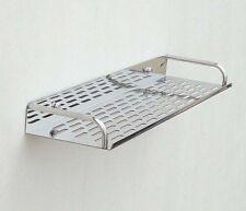 Bathroom Kitchen Shower Wall Mounted Steel Holder Tray Shelf Caddy