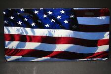 AMERICAN FLAG METAL ALUMINUM CAR LICENSE PLATE TAG