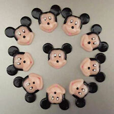 10pcs Resin Mickey Mouse Flatback Scrapbooking Hair Bow Center Crafts Making BIN
