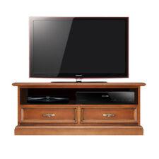 Mueble de tv, mueble de salón 2 cajones, pequeño mueble de madera color cerezo