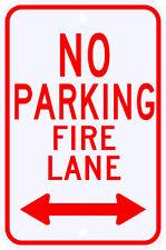 3M Reflective No Parking Fire Lane Sign 2 Way Arrow Dot Municipal Grade 12 x 18
