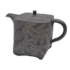 Japanese teapot- SHUN-EN MANO- Wild grass- 280cc/ml- ceramic fine mesh- Tokoname