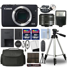 Canon EOS M10 Mirrorless Digital Camera with 15-45mm STM Lens Black+ 32GB Bundle