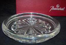 """Baccarat Crystal Glass Tagged Magnum Wine Bottle 5 1/4"""" Coaster Orig Red Box"""