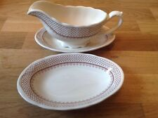REDUCED Masons Ashlea Pattern ( Brown ) 1 Gravy Boat & 2 Stand.