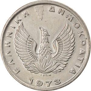 [#885572] Coin, Greece, 10 Drachmai, 1973, AU(55-58), Copper-nickel, KM:110