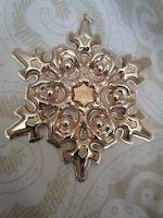 1984 Gorham Sterling Silver Annual Christmas Snowflake Ornament 3.5""